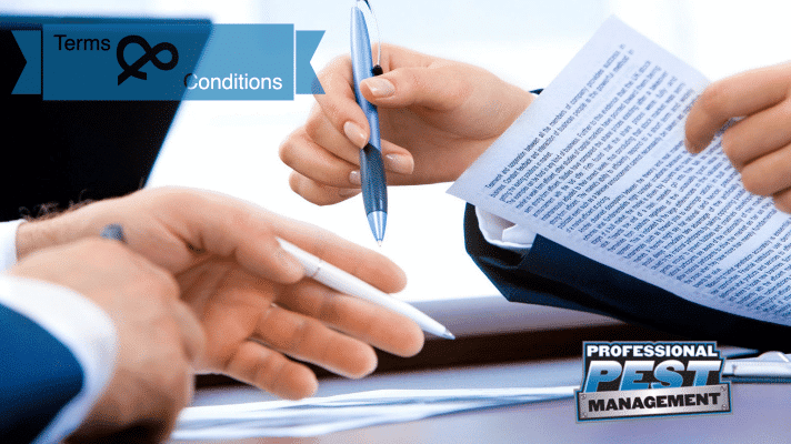 Terms & Conditions Banner - Man and Woman signing documents